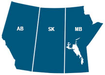 Alberta, Saskatchewan, and Manitoba